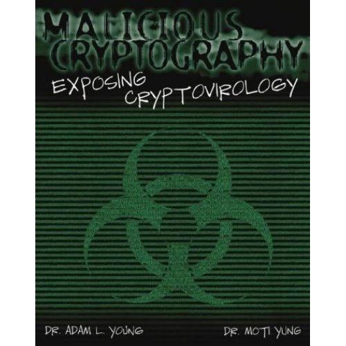 Malicious Cryptography: Exposing Crytovirology: Exposing Cryptovirology