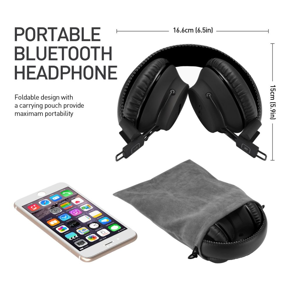 Bluetooth Headphones Wireless [New Version] Mpow Bluetooth 4 1 Dual 40mm  Drivers 20 Hours Playtime Foldable Over Ear Headphones Soft  Memory-Protein