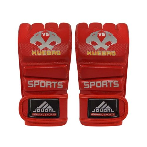 Adult Fighting Half-finger Gloves -UFC Boxing Gloves - Gloves MMA--Red