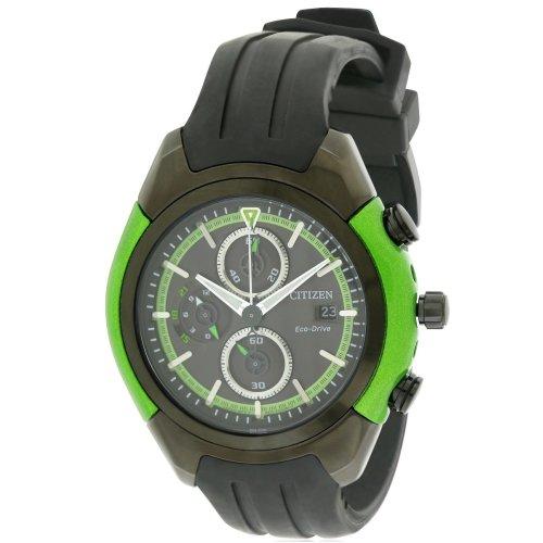 Citizen Eco-Drive Chronograph Rubber Mens Watch CA0289-00E