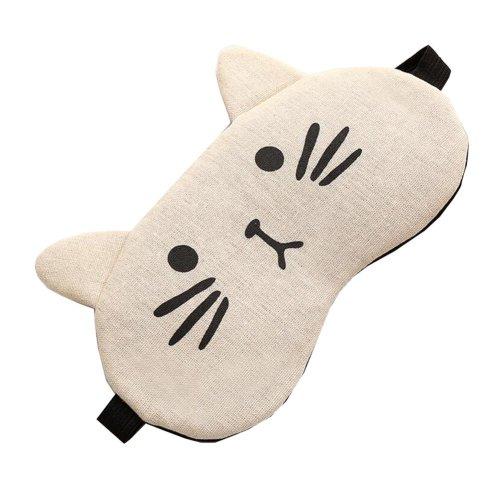Lovely Cat Design Light Blocking Sleeping Eye Mask