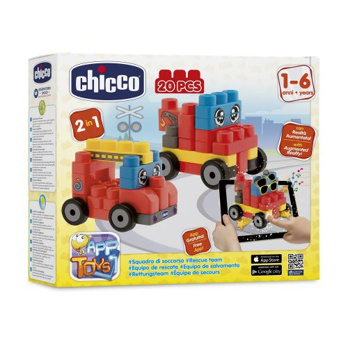 Chicco – 2307000000 Relief – 20 Pieces – Pack Of Construction Vehicles