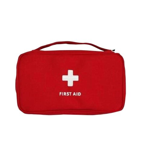 Red Pill/Bandage/Vatamin/Gauze Storage Bag First Aid Empty Pocket