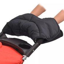 vidaXL Stroller Hand Muff 55x25 cm Black