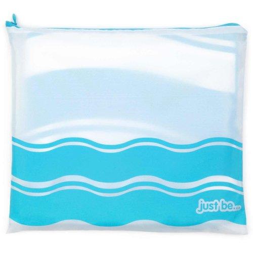 just be... Microfibre Wave Beach Towel - BLUE LARGE 160 x 80cm