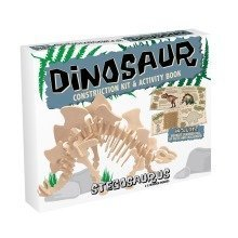 Dinosaur Construction Kit & Activity Book - Stegosaurus
