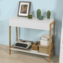 SoBuy® FWT48-WN, Console Table Hall Table Side End Table with Drawer