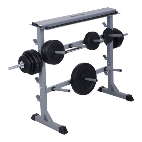 350kg Gym Weight Plate & Bar Rack Storage Fitness