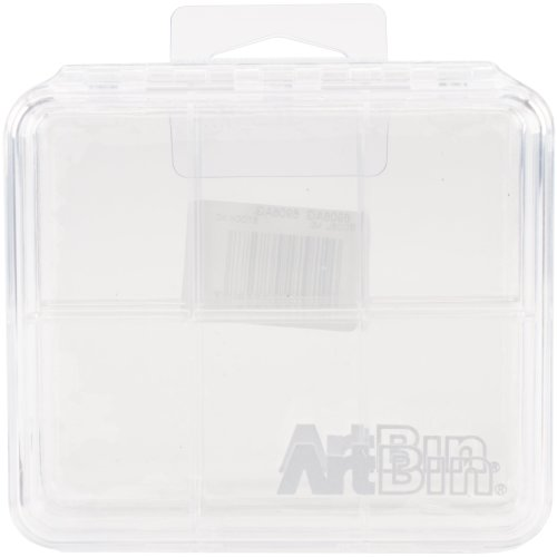 "ArtBin Slim Line Box 6 Compartments 2/Pkg-4.25""X3.75""X0.625"" Clear"