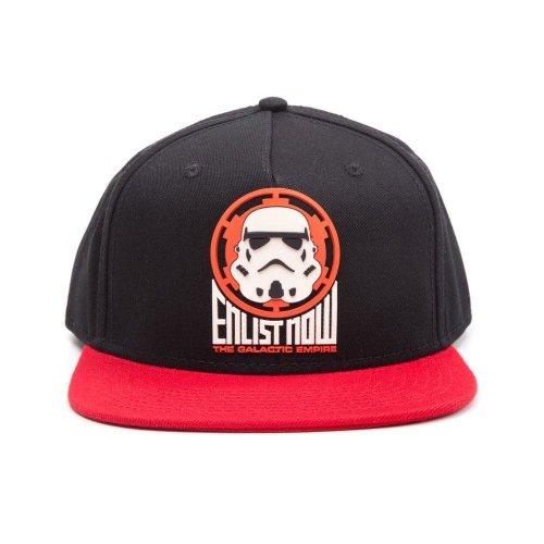 Star Wars The Galactic Empire Stormtrooper Snapback Baseball Cap - Black/Red
