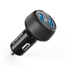 Anker Ultra-Compact 24W 2-Port Car Charger PowerDrive 2 Elite