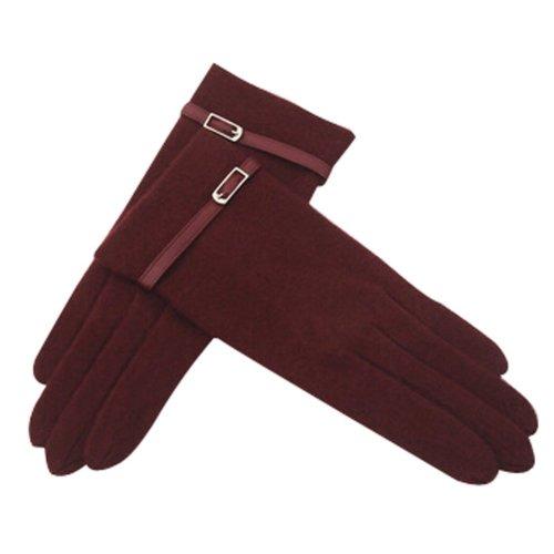 Beautiful Wool Gloves Keep Warm Touch Screen Gloves Purple