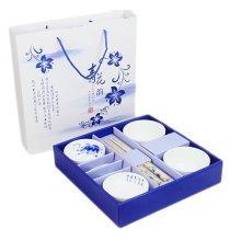 Wedding Business Gift Home Porcelain Tableware Set Bowl/Dish/Chopsticks 8PCS-Lotus