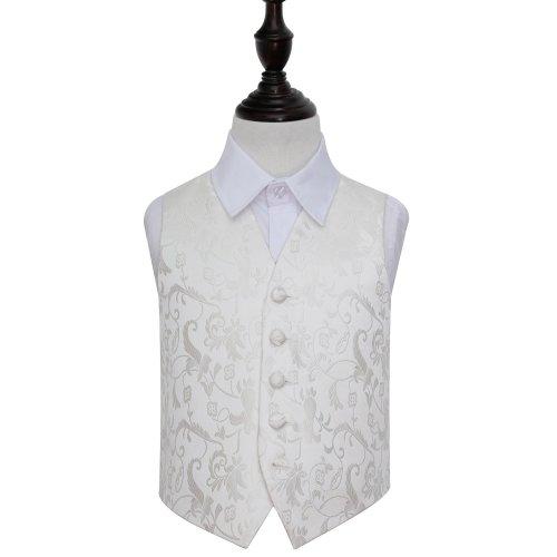 Ivory Floral Wedding Waistcoat for Boys 34'