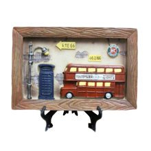 Wooden Frames Red Bus Photo/Album Frame/ Nursery Picture Frames