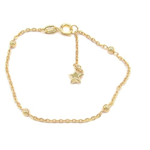 New 9 CT Gold Filled expendable Bead Bracelet 7.5 or 8 '' B27