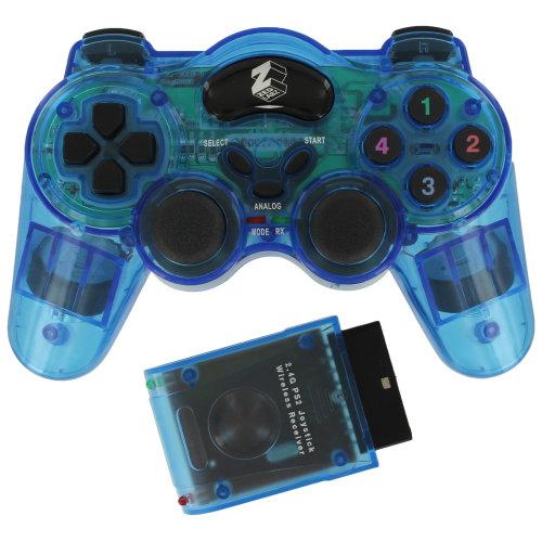 Wireless controller for PS2 PlayStation 2 Sony RF gamepad joypad ZedLabz Blue