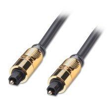 LINDY 15m Premium Gold TosLink SPDIF Digital Optical Cable