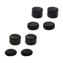 ZedLabz concave & convex silicone thumb cap grips for PS4 - 8 pack black