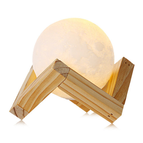 Touch Control 3D Print Moon Lamp, Dimmable Luna Night Light