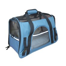 Pet Carrier Soft Sided Travel Bag for Small dogs & cats- Airline Approved, Blue