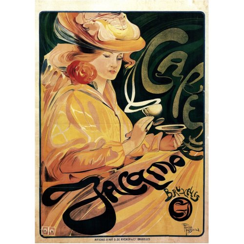 Advertising poster - Café Jacqmotte - High definition printing on stainless steel plate