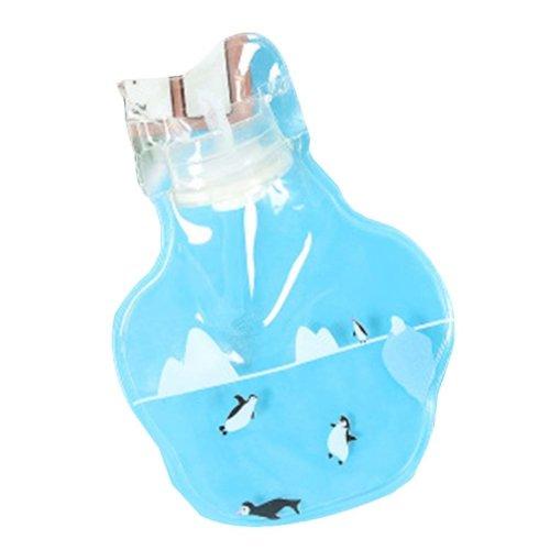 [Penguin] 2 Pcs Small Lovely Hot Water Bottle Mini Transparent Hot Water bag