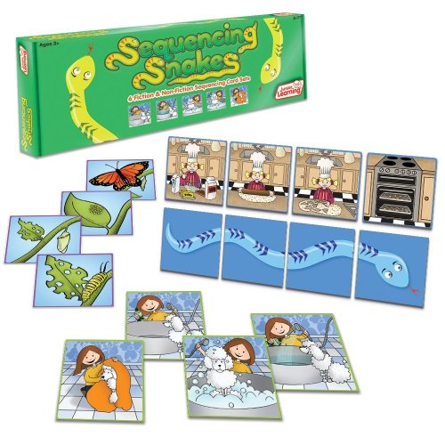 Junior Learning Sequencing Snakes Develop Comprehension and Oral Language Card