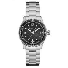 Nautica NWS 01 Watch Black Dial - Stainless Steel