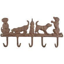 Rustic Cast Iron Decorative Hooks for Dog Lovers - Hang your muddy coats & leads