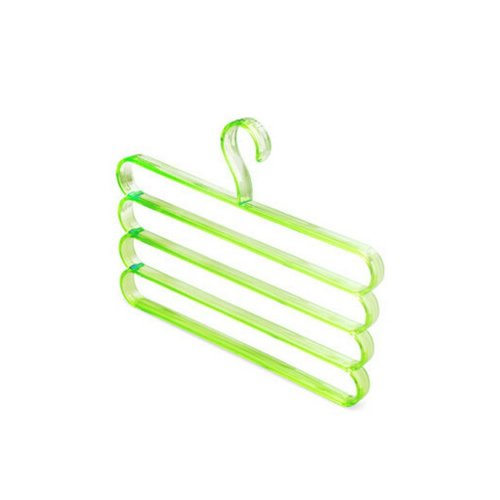 Creative Clothes Hanger Multipurpose Towel Suit Pants Organizer Holder GREEN