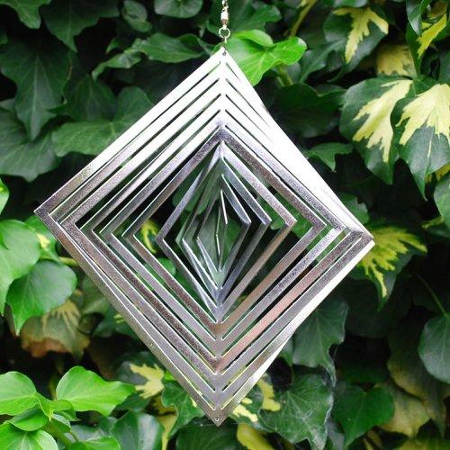 Diamond Shaped Steel Windspinner For The Garden
