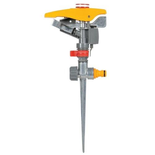 Hozelock Pulsating Sprinkler 450 m² 2550 0000 Lawn Water Hose Pipe Connector