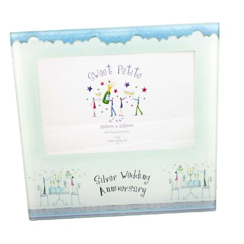 25th Anniversary Photo Frame by Shudehill giftware