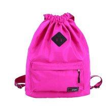 Outdoor Sport Bag Waterproof Training Bag Dance Bag Training Shoes Yoga Bag-Rose Red