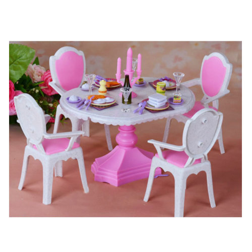 Luxurious 11.5'' Doll Living Room Furniture Set-Dining Table Set