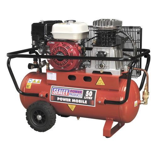 Sealey SA5055 50ltr Belt Drive Compressor with Petrol Engine 5.5hp
