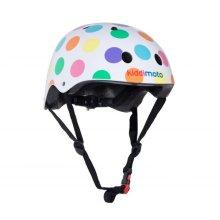 Kiddimoto Children's Bike / Scooter / Skateboarding Helmet - Pastel Dotty Design