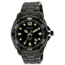 Bulova Sea King Black Stainless Steel Mens Watch 98B242