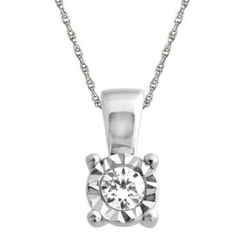 Natural Bezel Set 0.75 Carat Diamonds Necklace Pendant Gold White 14K New