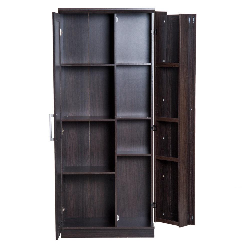 Homcom Wooden Freestanding Kitchen Pantry Cabinet Storage