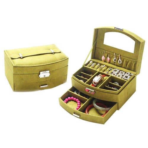 Portable Stylish Jewelry Box Ornaments Storage Boxes Jewelry Organizer -Green