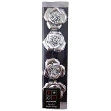 Beautiful Napkin Rings - Set Of Four - Rose Design Napkin Rings - Pm42 -  napkin rings beautiful set four rose design pm42rose