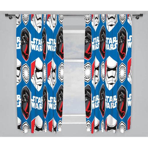 Character World 72-inch Star Wars Episode 7 Awaken Curtains, Multi-colour - -  curtains wars star 72 episode disney character awaken bedroom