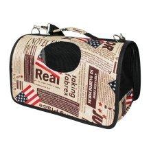 American Flag Pattern Cat Travel Handbag Shoulder Bag