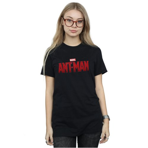 Marvel Women's Ant-Man Movie Logo Boyfriend Fit T-Shirt