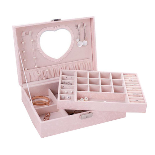 Big Travel Jewelry Box For Ring / Watch / Necklace / Earring -A14