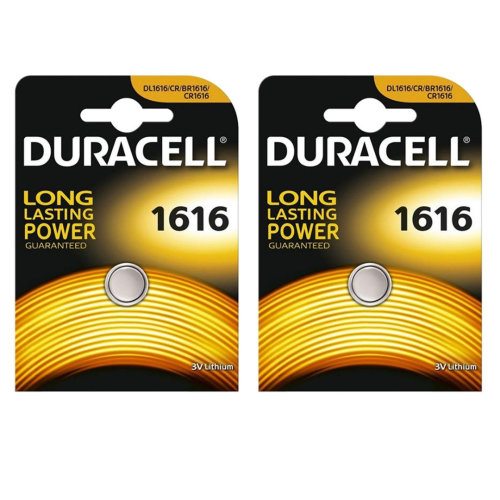 Duracell CR1616 Lithium Coin Cell Batteries 1616 DL1616 3V Battery 2 Pack