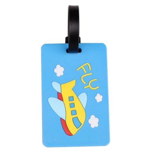 Set Of 2 Fashional Luggage Tag Bag Tags Silicone Name Tag Travel Tag [Blue]