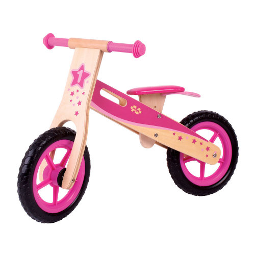 Bigjigs Toys My First Wooden Balance Bike (Pink)